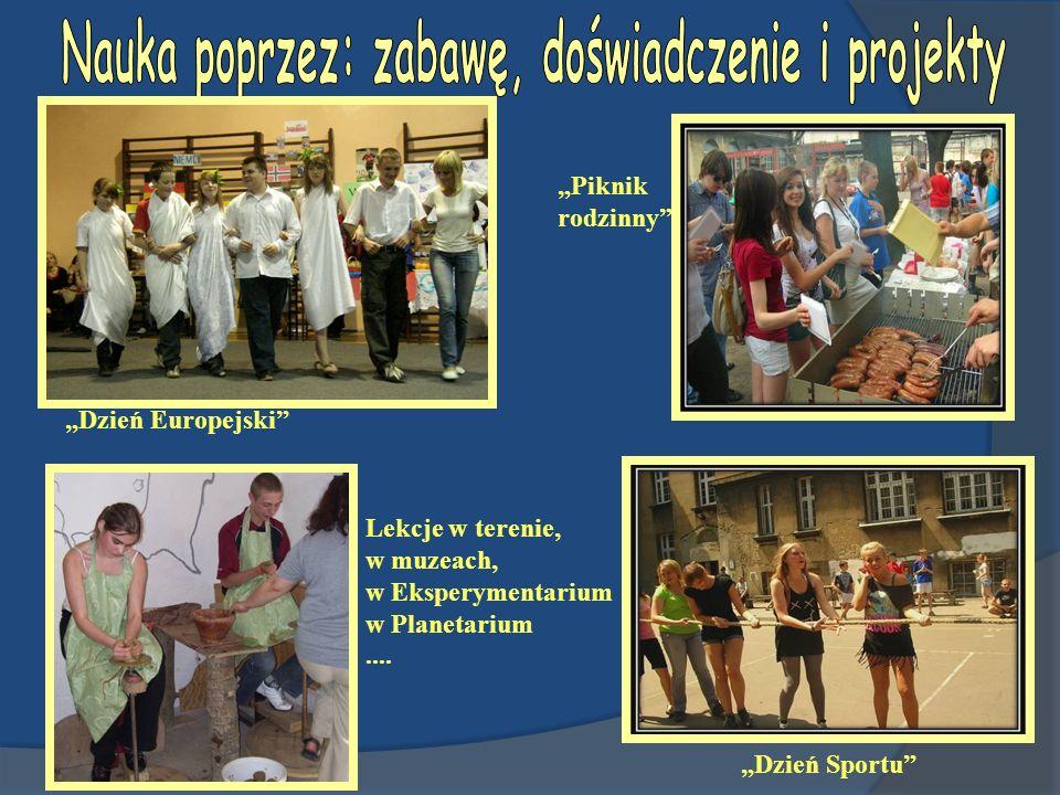 Dzień Europejski Dzień Sportu Piknik rodzinny Lekcje w terenie, w muzeach, w Eksperymentarium w Planetarium....