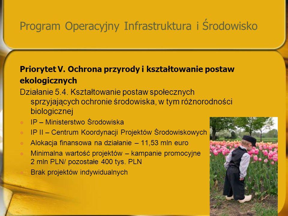 Program Operacyjny Infrastruktura i Środowisko Priorytet V.