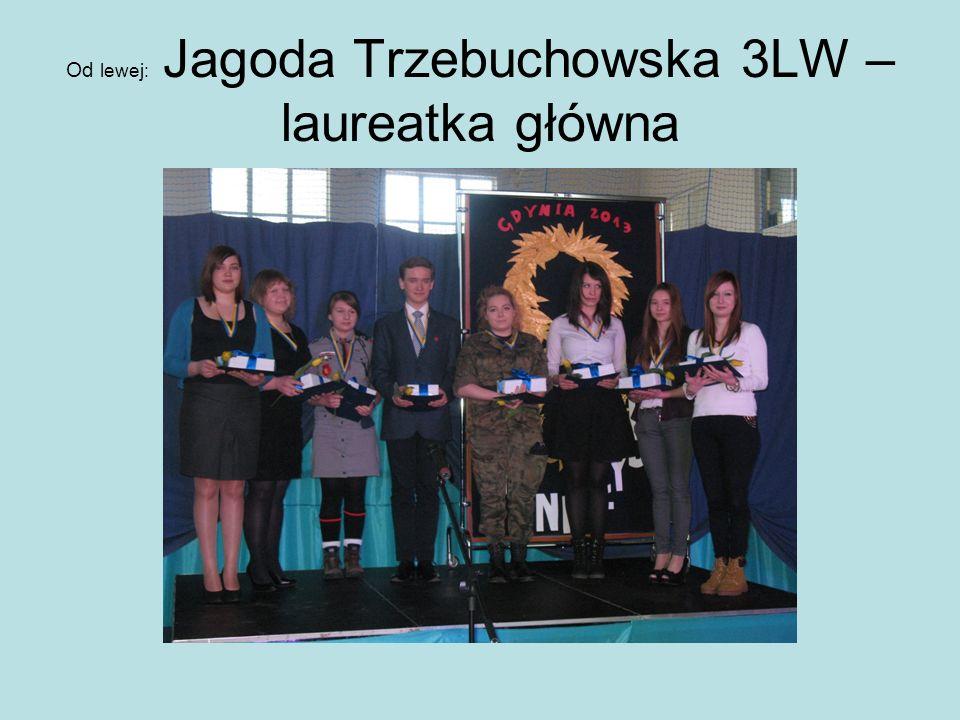Od lewej: Jagoda Trzebuchowska 3LW – laureatka główna