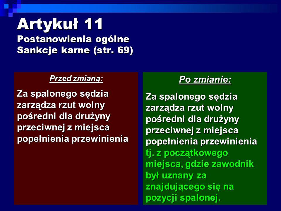 Artykuł 11 Postanowienia ogólne Sankcje karne (str.