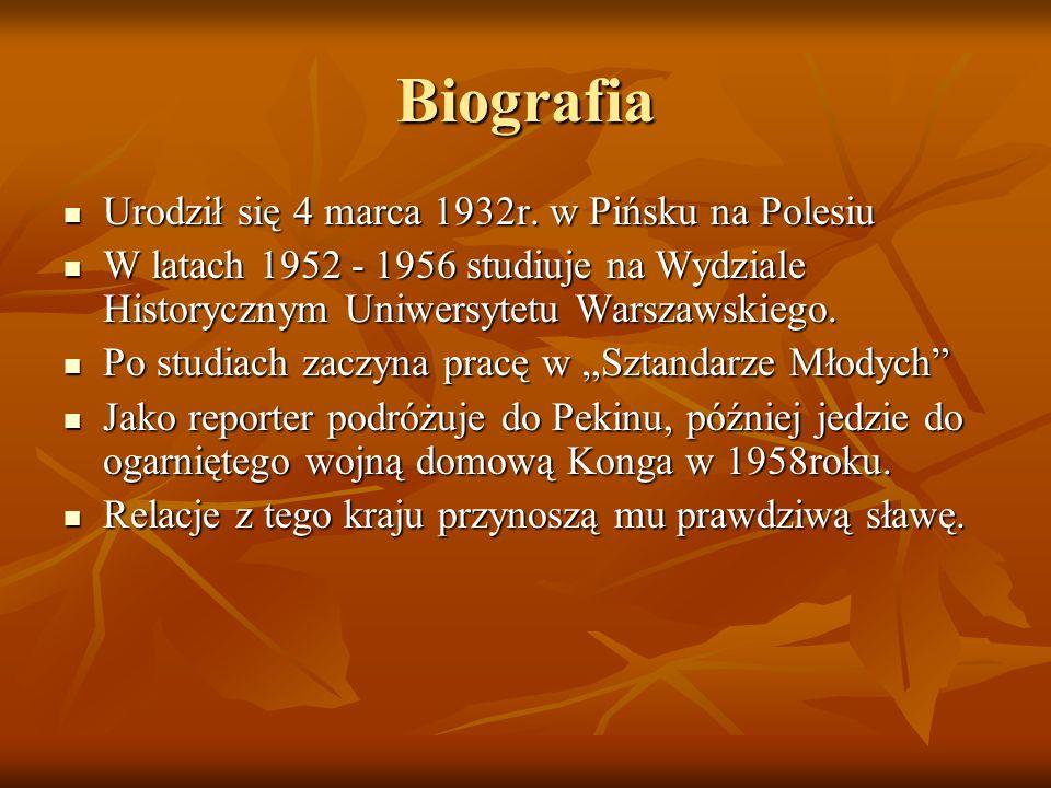 Biografia Urodził się 4 marca 1932r. w Pińsku na Polesiu Urodził się 4 marca 1932r. w Pińsku na Polesiu W latach 1952 - 1956 studiuje na Wydziale Hist