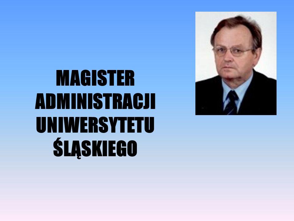 MAGISTER ADMINISTRACJI UNIWERSYTETU ŚLĄSKIEGO