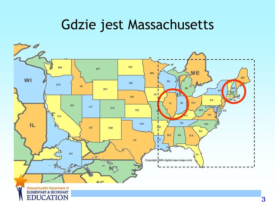 24 Szkoły Poziomu 4 35 szkół w 9 dystryktach miejskich Boston (12), Springfield (10), 7 innych dystryktów z 1 do 3 szkół 20 podstawowych, 12 gimnazjów lub szkół K-8, 3 szkoły średnie 17,000 uczniów 9 na10 żyje w ubóstwie 9 na10 jest innego pochodzenia etnicznego niż ucznowie rasy białej 1 na 4 uczy się języka angielskiego 1 na 5 jest uczniem niepełnosprawnym / o szczególnych potrzebach
