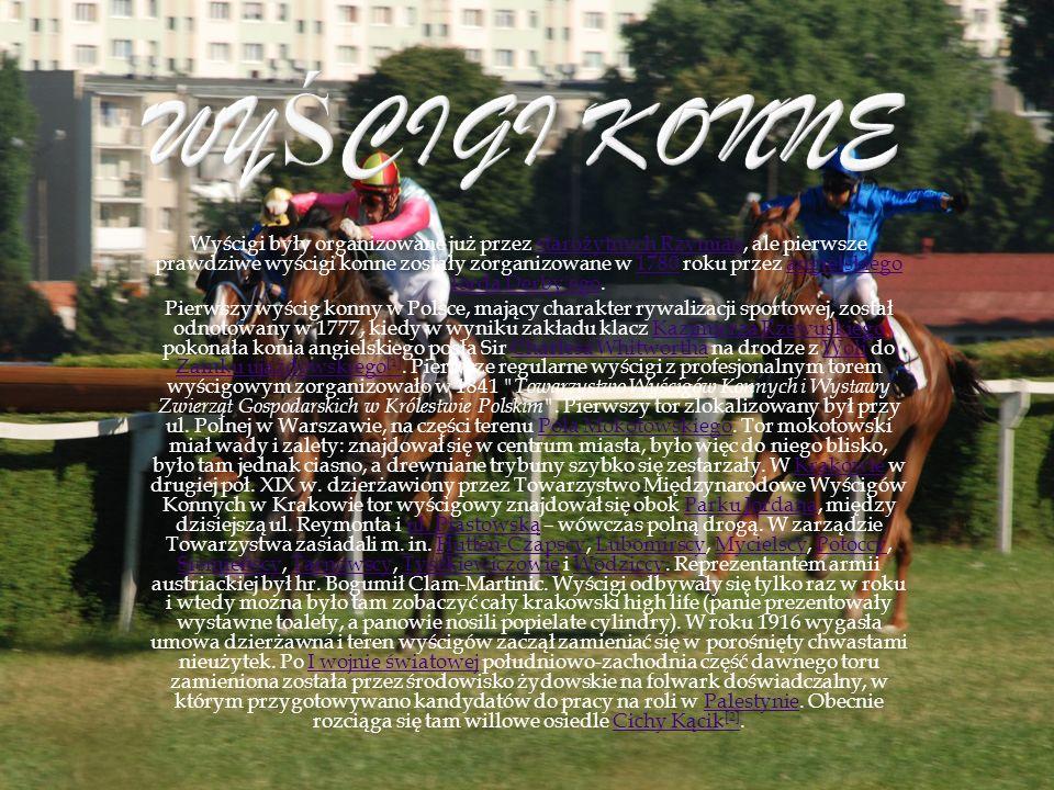 Wyścigi były organizowane już przez starożytnych Rzymian, ale pierwsze prawdziwe wyścigi konne zostały zorganizowane w 1780 roku przez angielskiego lo