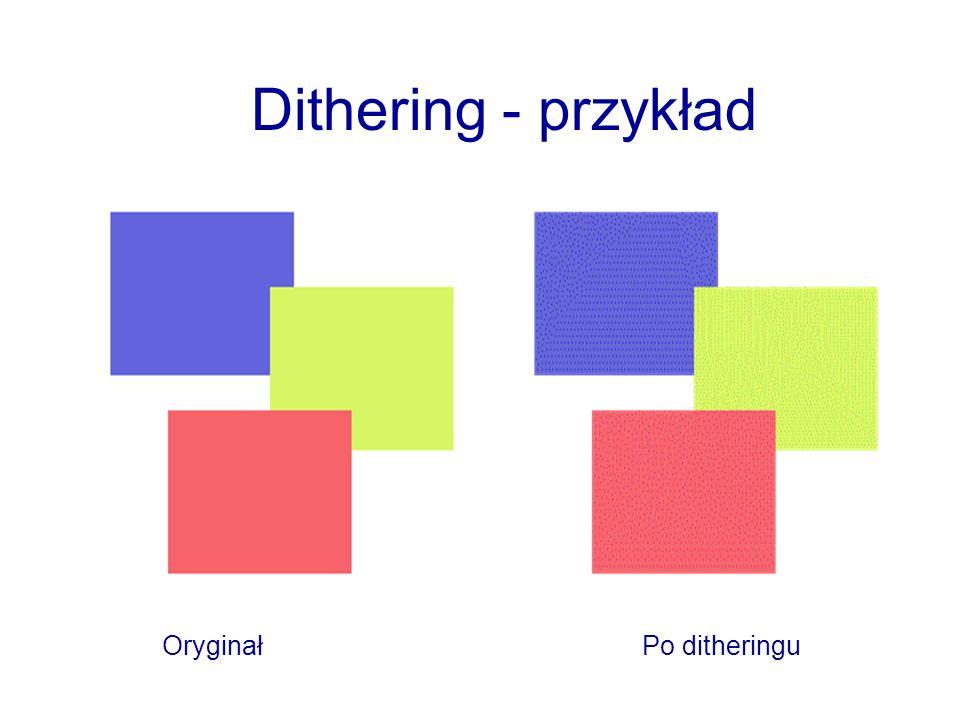 Dithering - przykład OryginałPo ditheringu