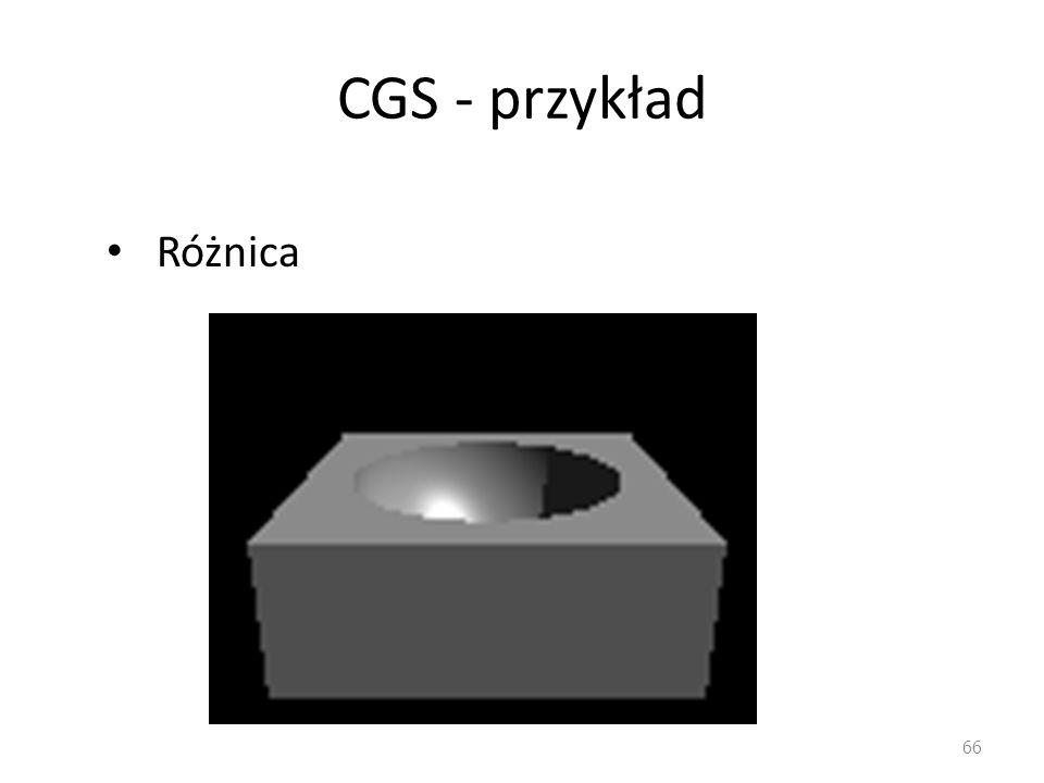 CGS - przykład Różnica 66