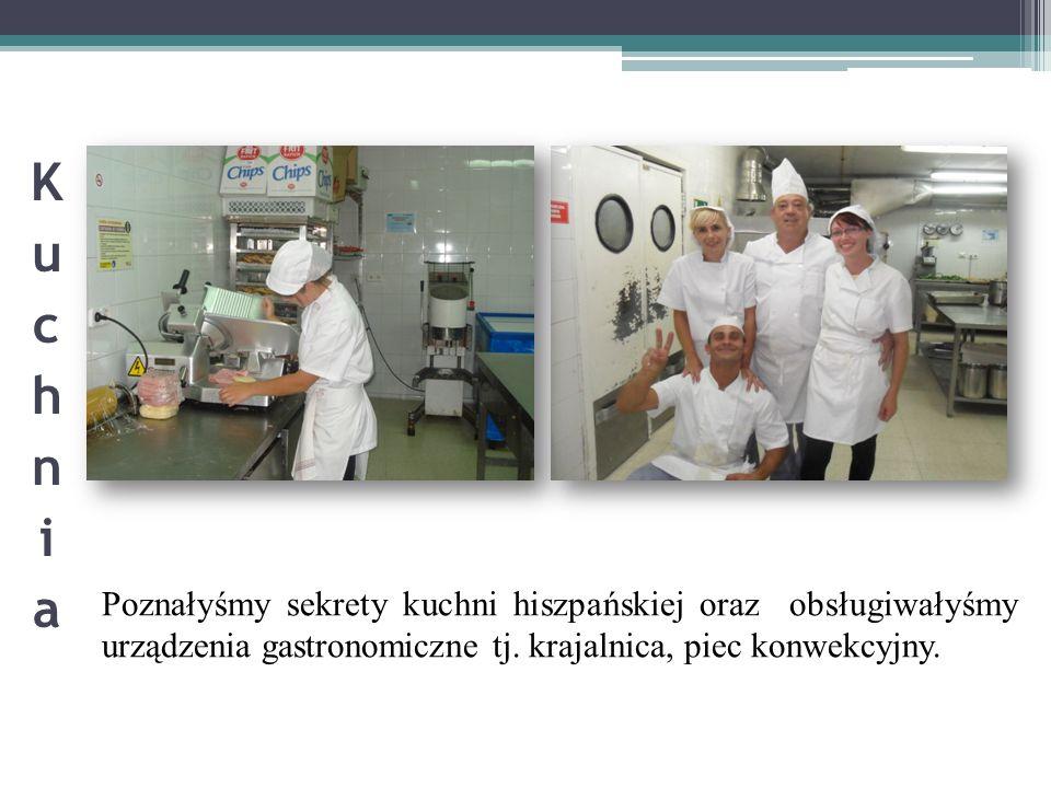 Poznałyśmy sekrety kuchni hiszpańskiej oraz obsługiwałyśmy urządzenia gastronomiczne tj. krajalnica, piec konwekcyjny.