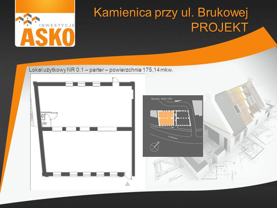 Lokal użytkowy NR 0.1 – parter – powierzchnia 175,14 mkw.