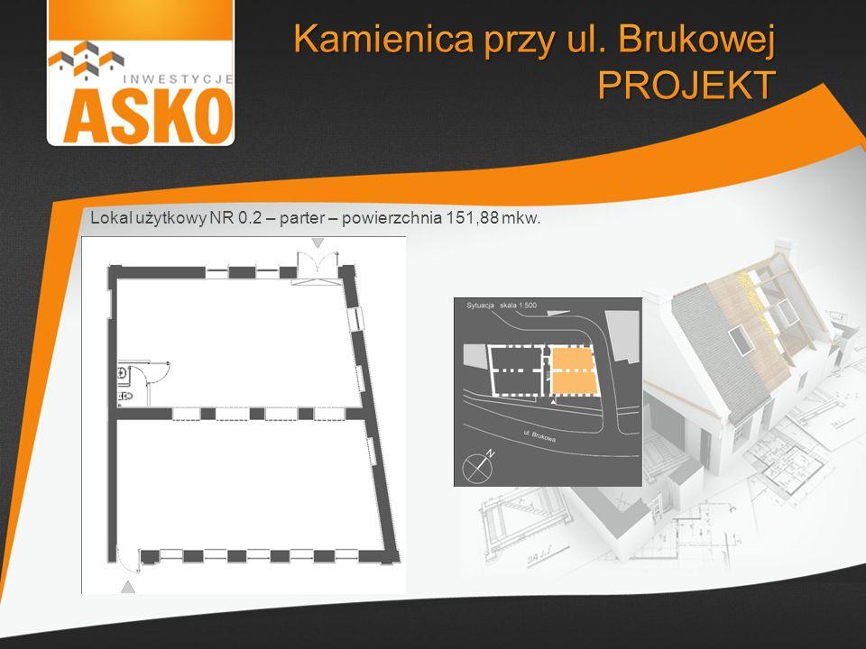 Lokal użytkowy NR 0.2 – parter – powierzchnia 151,88 mkw.
