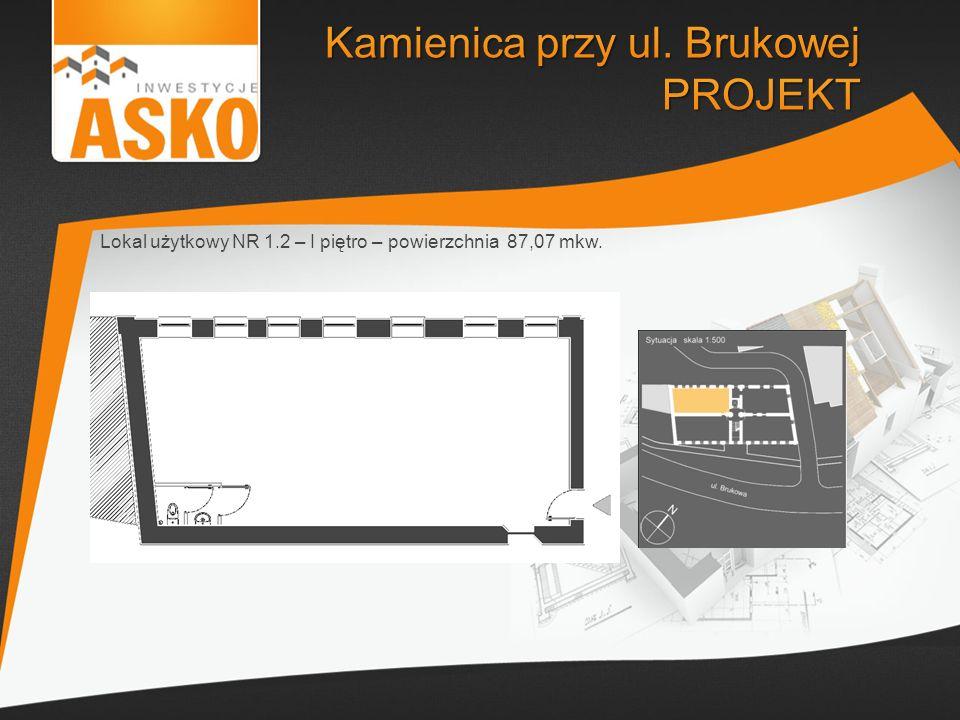 Lokal użytkowy NR 1.2 – I piętro – powierzchnia 87,07 mkw.