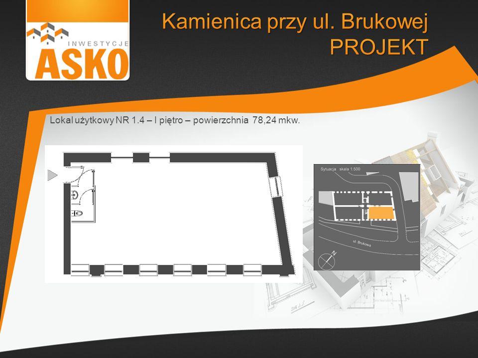 Lokal użytkowy NR 1.4 – I piętro – powierzchnia 78,24 mkw.