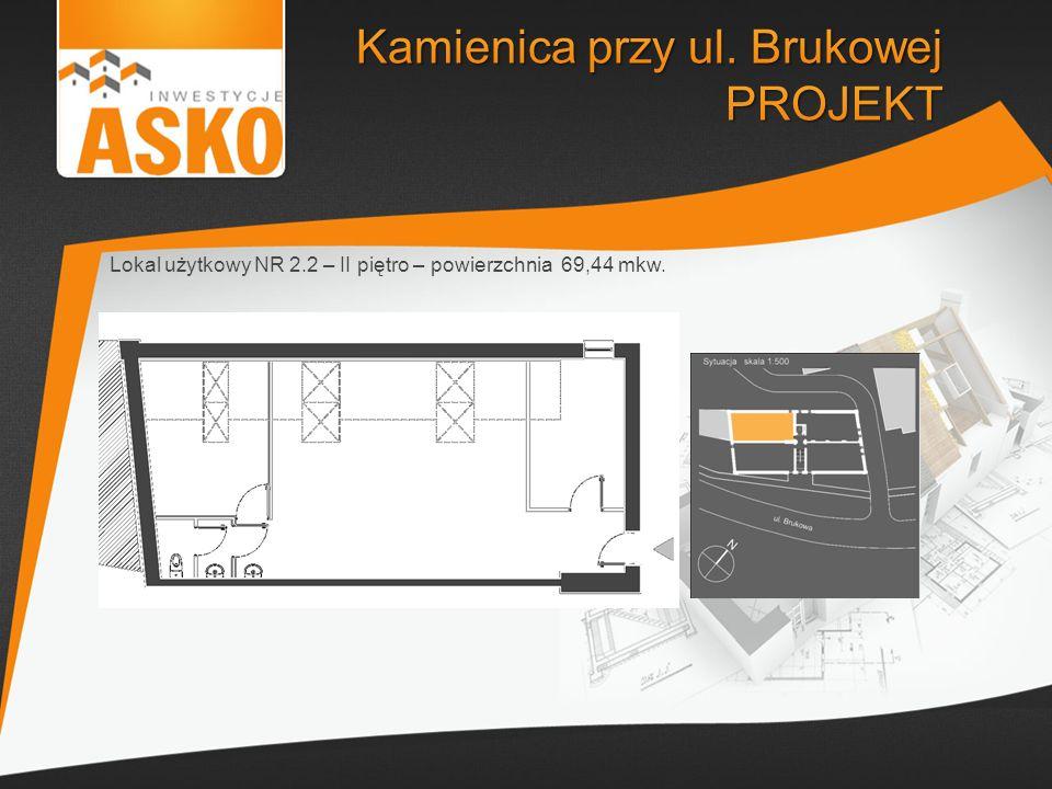 Lokal użytkowy NR 2.2 – II piętro – powierzchnia 69,44 mkw.