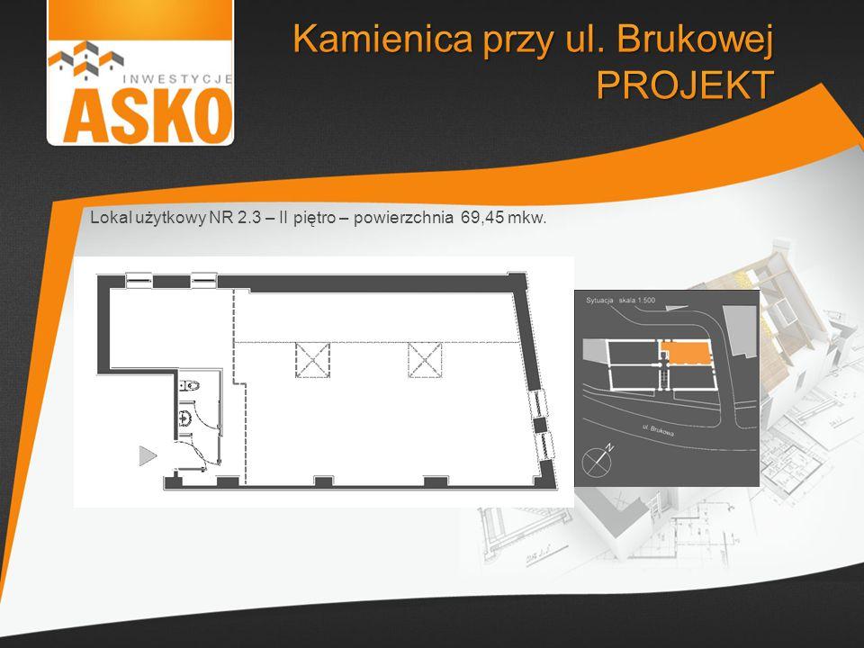 Lokal użytkowy NR 2.3 – II piętro – powierzchnia 69,45 mkw.