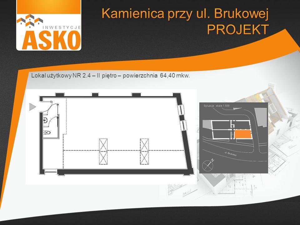Lokal użytkowy NR 2.4 – II piętro – powierzchnia 64,40 mkw.