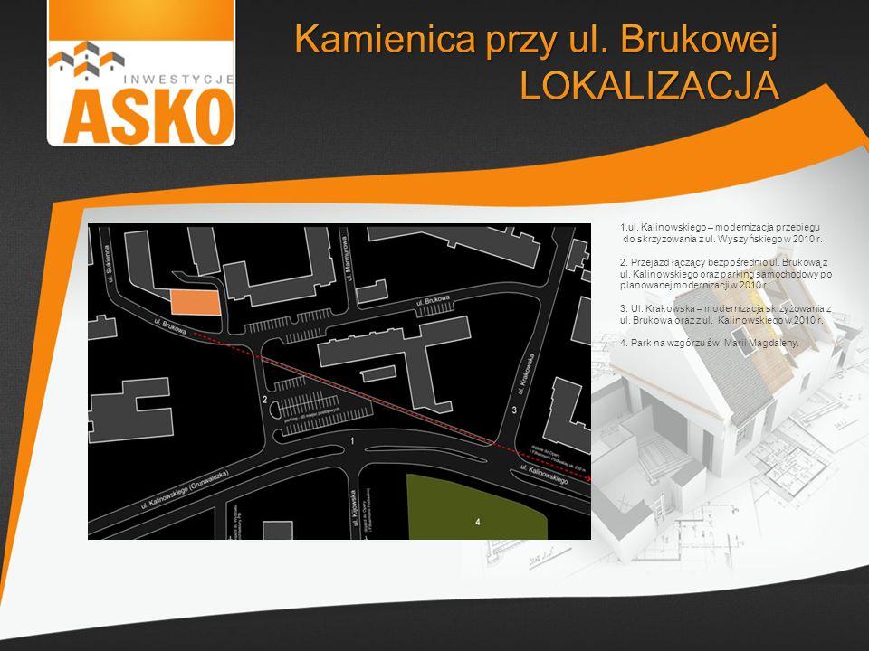 1.ul. Kalinowskiego – modernizacja przebiegu do skrzyżowania z ul. Wyszyńskiego w 2010 r. 2. Przejazd łączący bezpośrednio ul. Brukową z ul. Kalinowsk