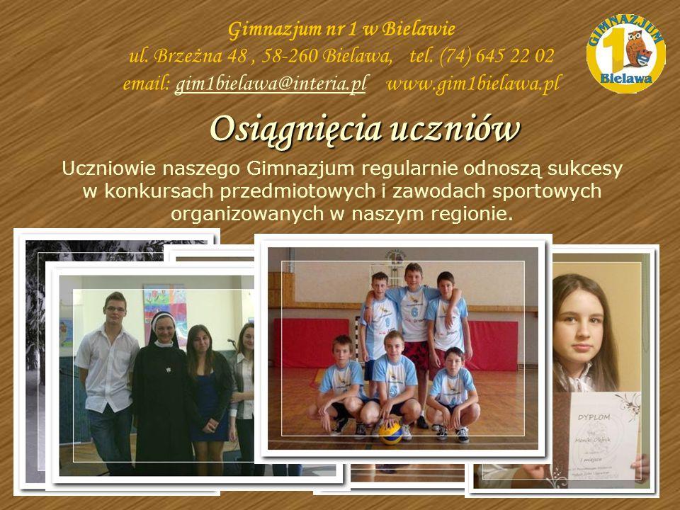 Uczniowie naszego Gimnazjum regularnie odnoszą sukcesy w konkursach przedmiotowych i zawodach sportowych organizowanych w naszym regionie. Osiągnięcia