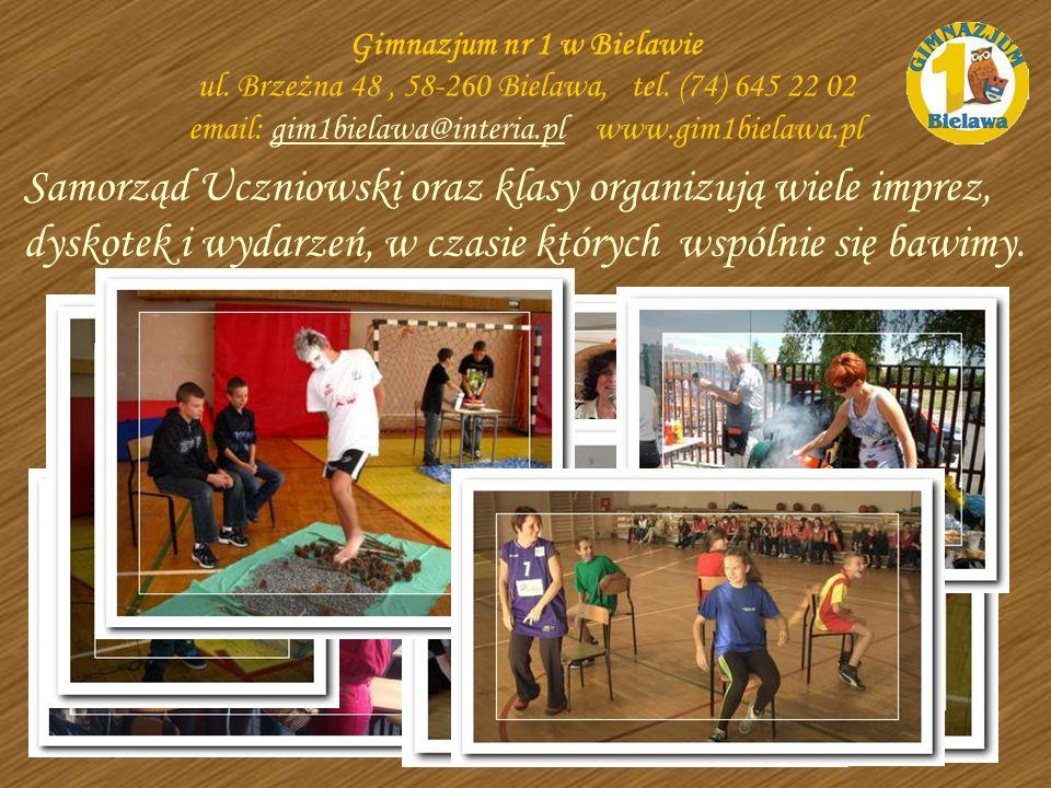 Samorząd Uczniowski oraz klasy organizują wiele imprez, dyskotek i wydarzeń, w czasie których wspólnie się bawimy. Gimnazjum nr 1 w Bielawie ul. Brzeż