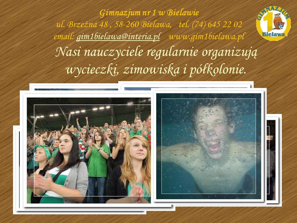 Nasi nauczyciele regularnie organizują wycieczki, zimowiska i półkolonie. basen Gimnazjum nr 1 w Bielawie ul. Brzeżna 48, 58-260 Bielawa, tel. (74) 64