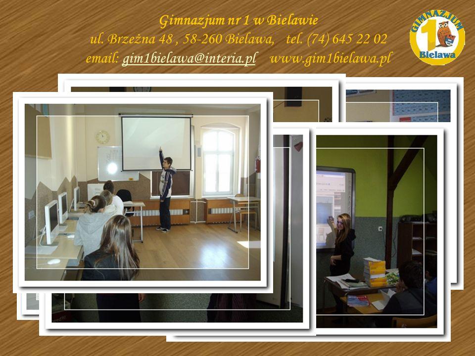 Gimnazjum nr 1 w Bielawie ul. Brzeżna 48, 58-260 Bielawa, tel. (74) 645 22 02 email: gim1bielawa@interia.pl www.gim1bielawa.plgim1bielawa@interia.pl Z