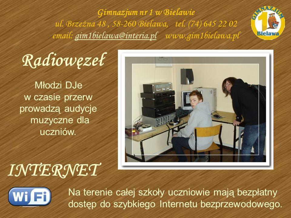Radiowęzeł Gimnazjum nr 1 w Bielawie ul. Brzeżna 48, 58-260 Bielawa, tel. (74) 645 22 02 email: gim1bielawa@interia.pl www.gim1bielawa.plgim1bielawa@i