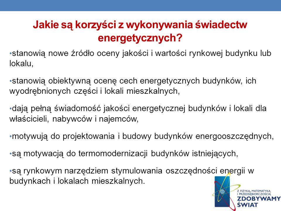 Jakie są korzyści z wykonywania świadectw energetycznych.