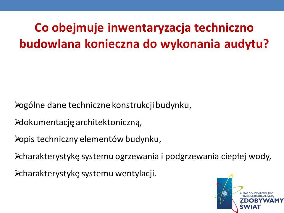 Co obejmuje inwentaryzacja techniczno budowlana konieczna do wykonania audytu.
