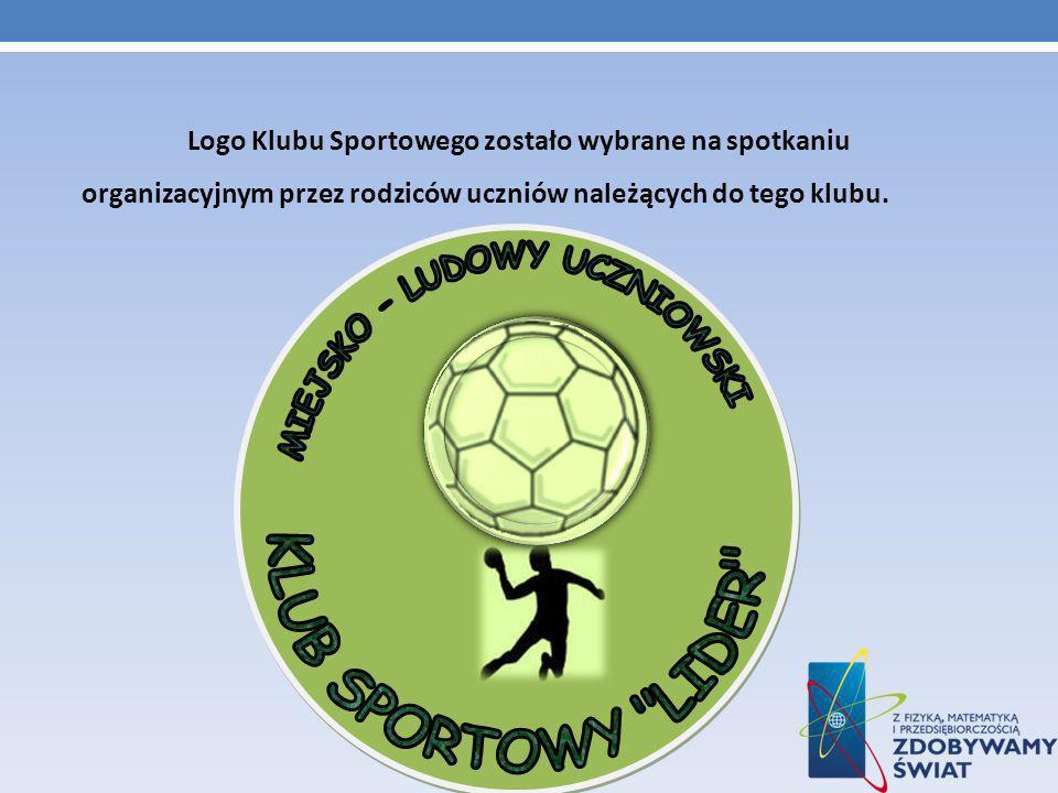 Logo Klubu Sportowego zostało wybrane na spotkaniu organizacyjnym przez rodziców uczniów należących do tego klubu.