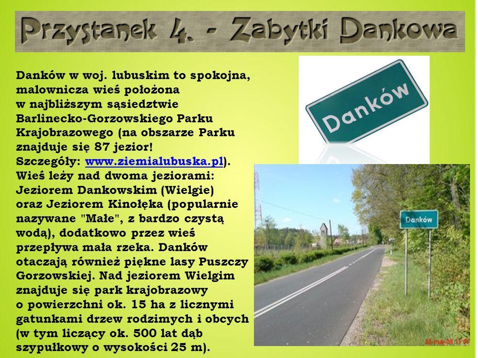 Danków w woj. lubuskim to spokojna, malownicza wieś położona w najbliższym sąsiedztwie Barlinecko-Gorzowskiego Parku Krajobrazowego (na obszarze Parku