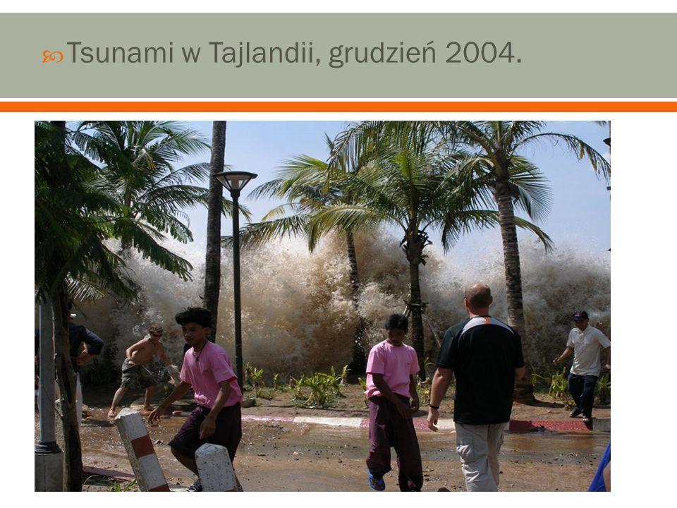 Tsunami w Tajlandii, grudzień 2004.