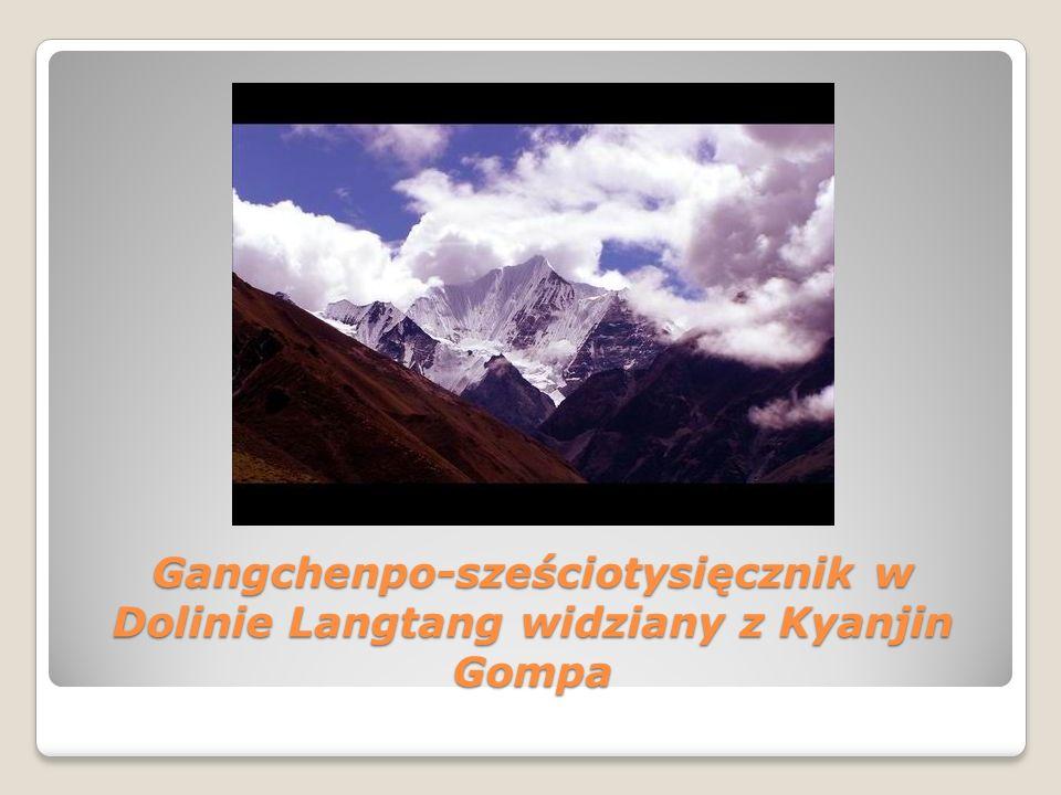 Gangchenpo-sześciotysięcznik w Dolinie Langtang widziany z Kyanjin Gompa