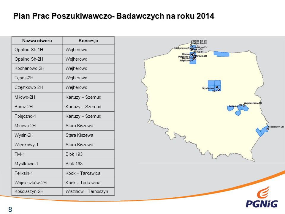Lubocino – 2H, pierwszy otwór poziomy wiercony w poszukiwaniu gazu z łupków rozpoczął wiercenie w dniu 28.08.2012.