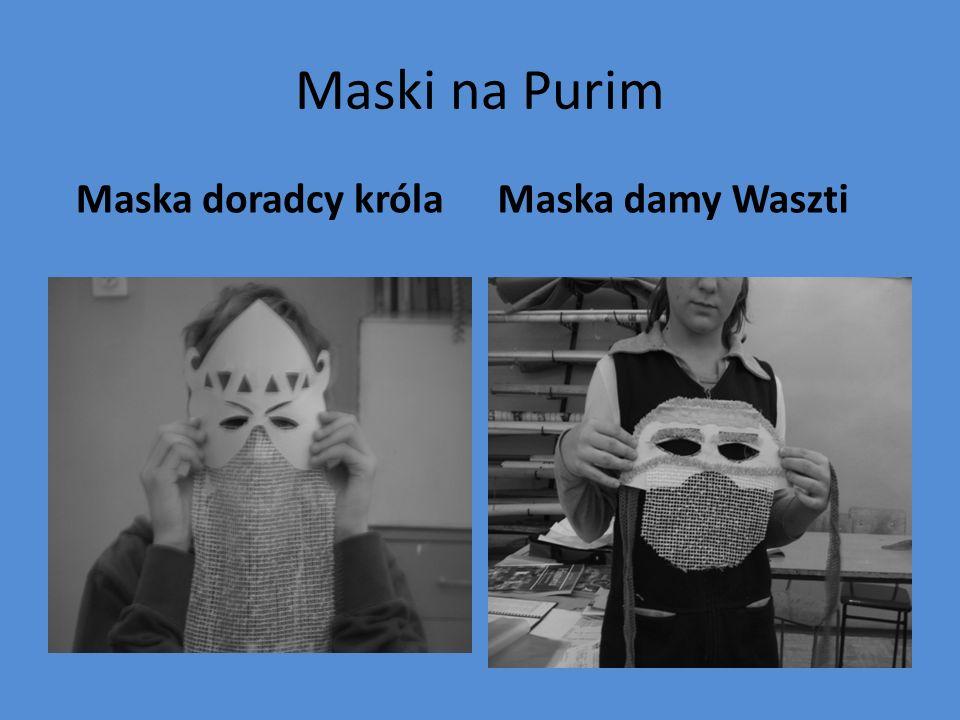 Maski na Purim Maska doradcy królaMaska damy Waszti