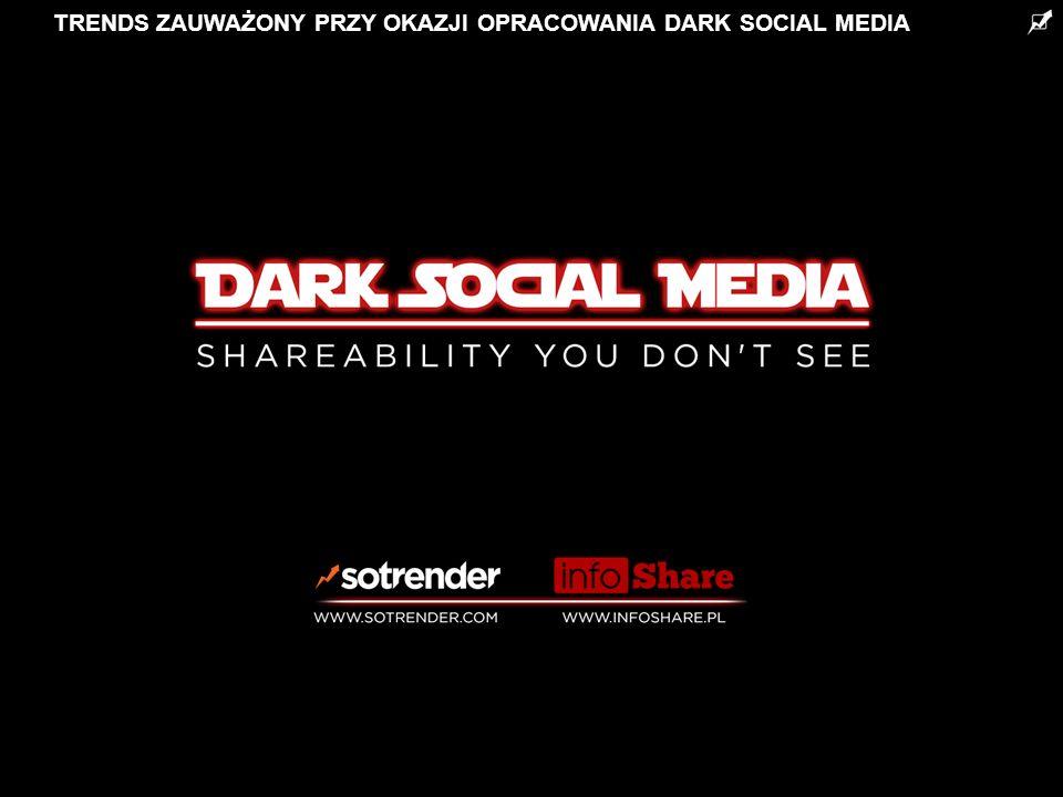 TRENDS ZAUWAŻONY PRZY OKAZJI OPRACOWANIA DARK SOCIAL MEDIA