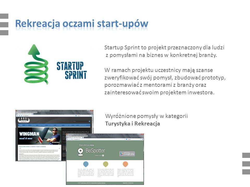 Startup Sprint to projekt przeznaczony dla ludzi z pomysłami na biznes w konkretnej branży.