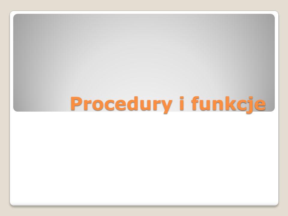Podprogram Podprogram (inaczej funkcja lub procedura) - termin związany z programowaniem proceduralnym.