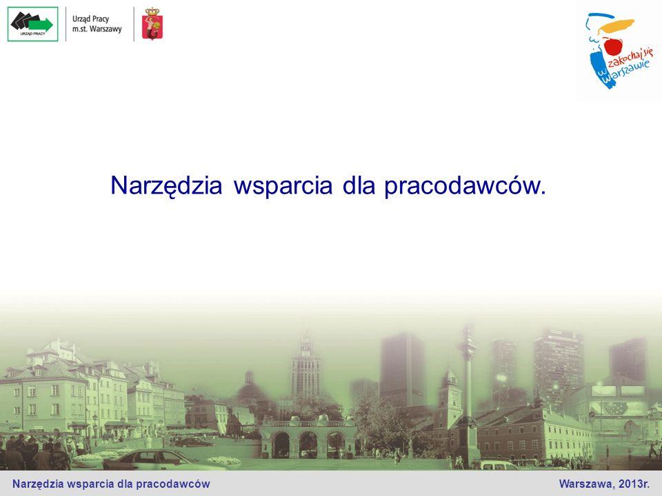 Narzędzia wsparcia dla pracodawców Warszawa, 2013r. Narzędzia wsparcia dla pracodawców.