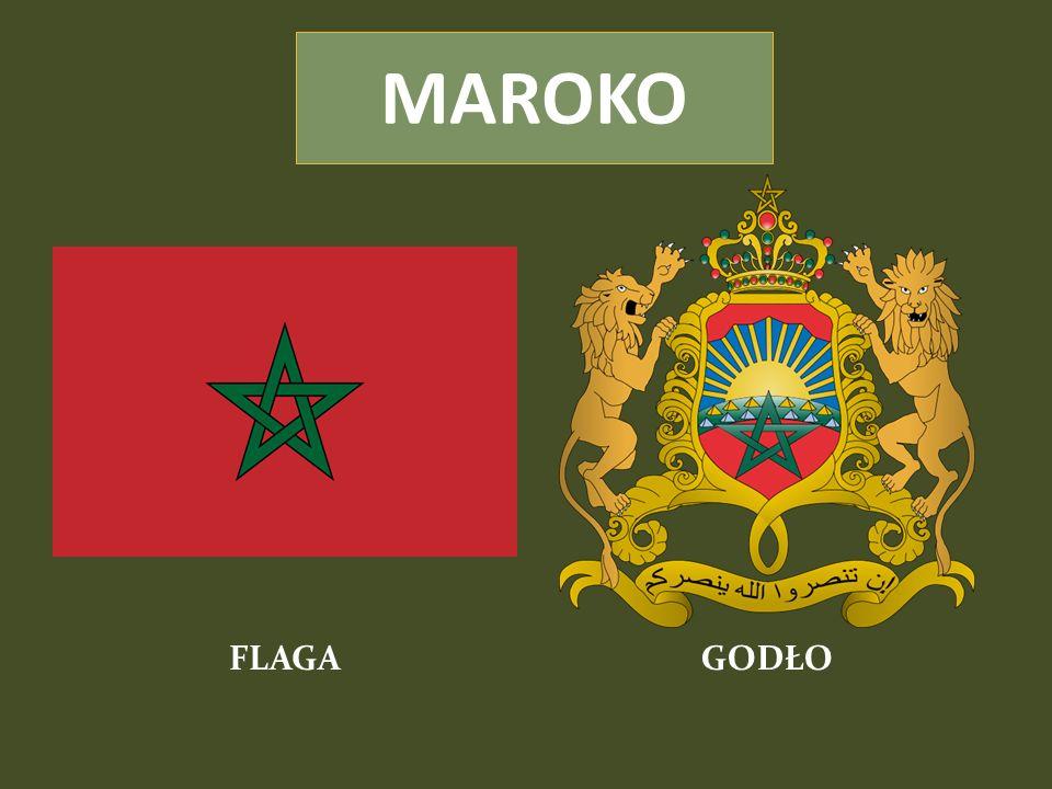 Stolica: RABAT Powierzchnia: 446 550 km² Liczba ludności (2009 rok): 34 859 364 Gęstość zaludnienia: 78,1 osób/km² Religie: Muzułmanie - 98,7% Chrześcijanie - 1,1% Judaizm - 0,2% Głowa państwa: król Muhammad VI Język urzędowy: arabski Waluta: dirham marokański