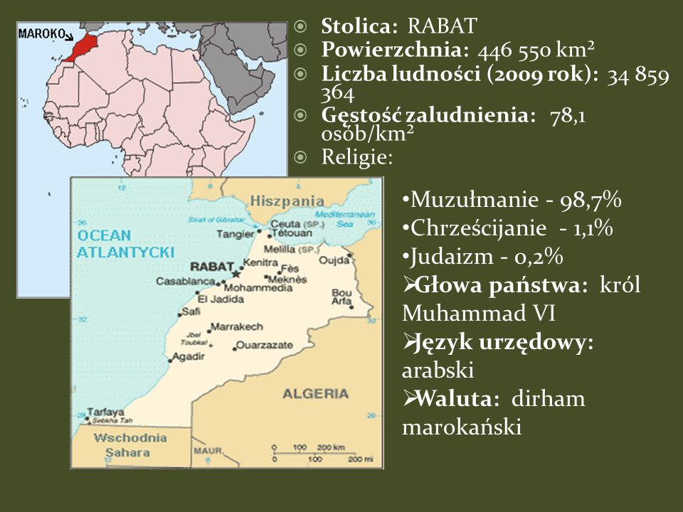 Rabat – stolica Maroko