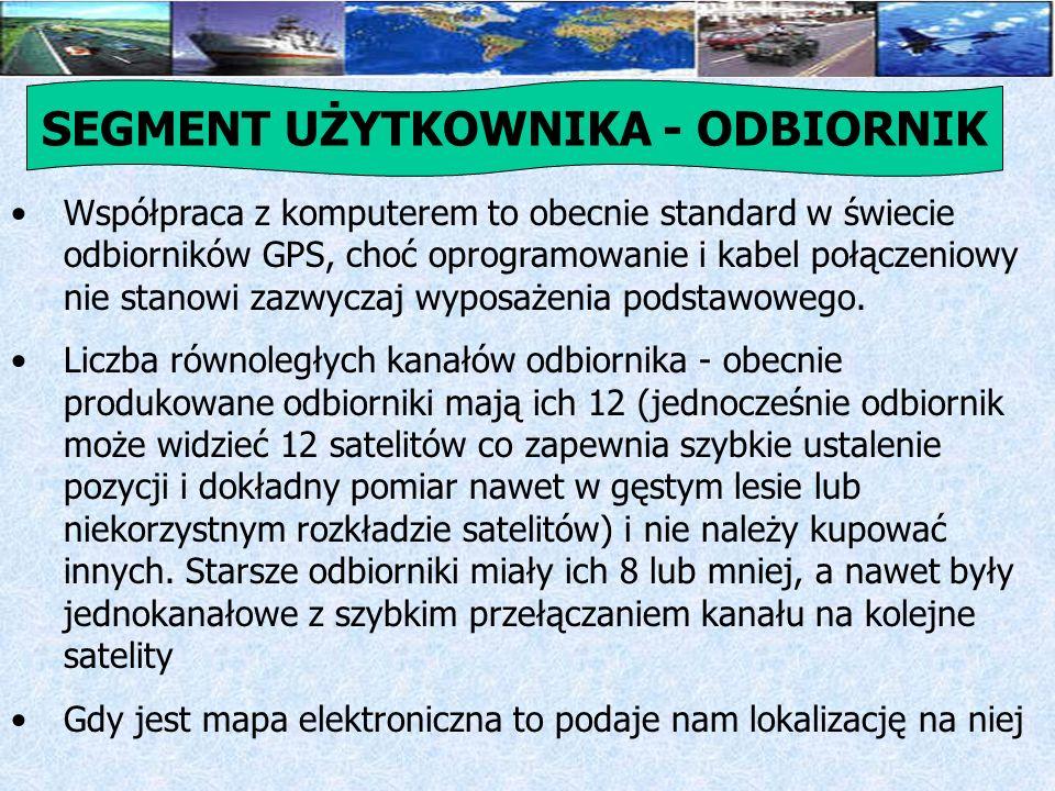 Działanie oparte jest na obliczeniu odległości między odbiornikiem GPS a satelitami, które są widziane przez odbiornik.