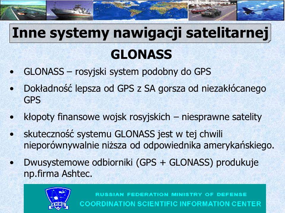 www.aero.org/publications/GPSPRIMER/Intro.html - Introduction to GPS www.colorado.edu/geography/gcraft/notes/gps/gps.html - GPS http://www.gps.pl/info/gps_faq.html - GPS FAQ http://sr3dpp.ampr.poznan.pl/~sp3vss/gps/gps.html - Wszystko o GPS http://www.colorado.edu/geography/gcraft/notes/gps - Colorado GPS Dublin Bus Tracking Service ŹRÓDŁO INFORMACJI O GPS