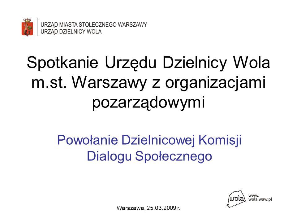 Warszawa, 25.03.2009 r. Spotkanie Urzędu Dzielnicy Wola m.st.
