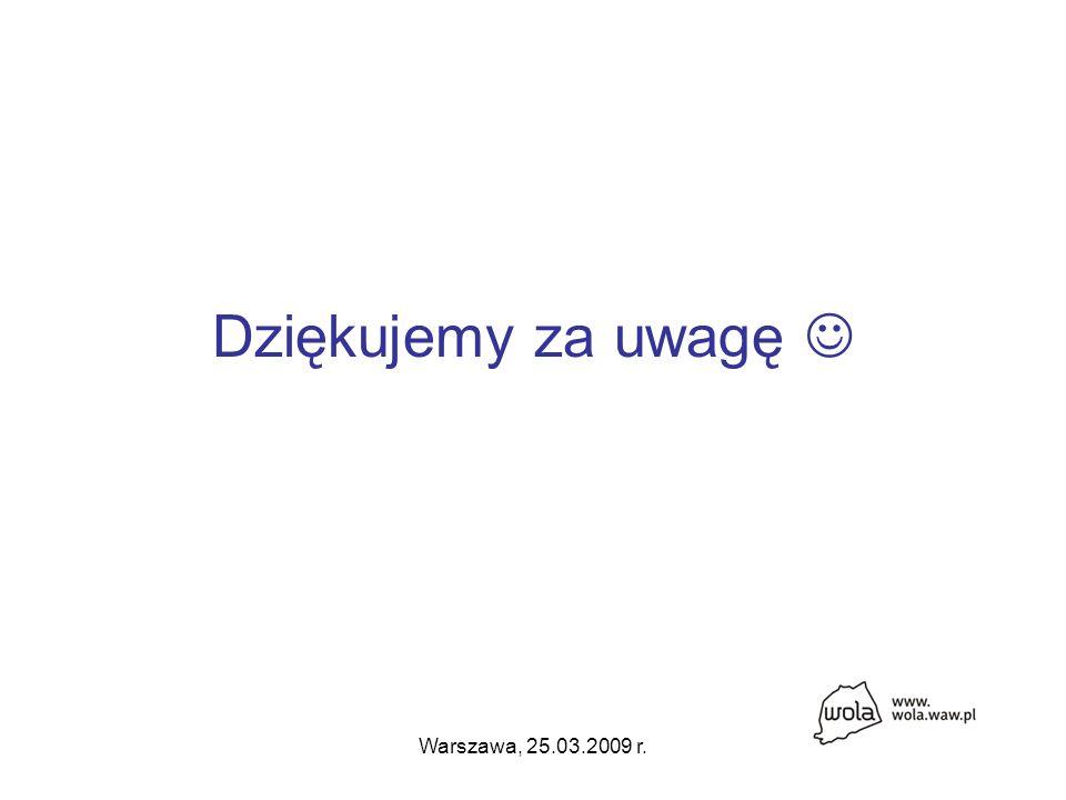Warszawa, 25.03.2009 r. Dziękujemy za uwagę