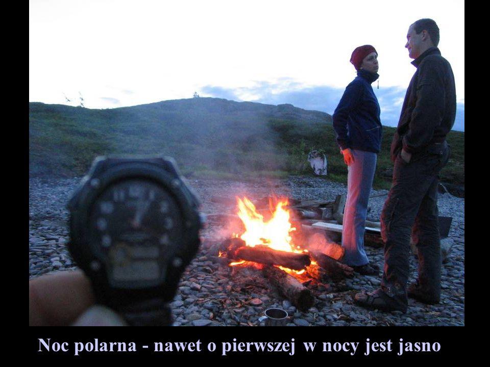 Noc polarna - nawet o pierwszej w nocy jest jasno