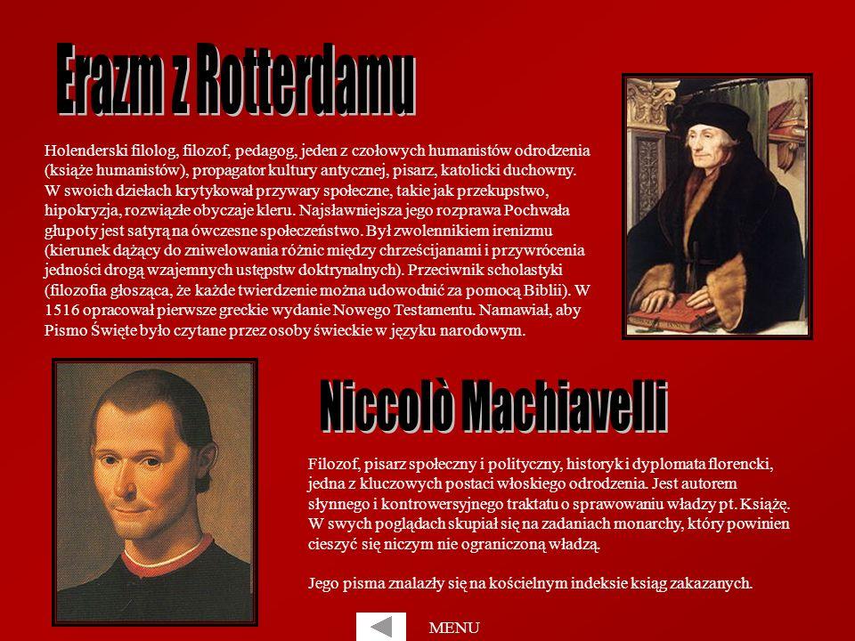 Holenderski filolog, filozof, pedagog, jeden z czołowych humanistów odrodzenia (książe humanistów), propagator kultury antycznej, pisarz, katolicki du