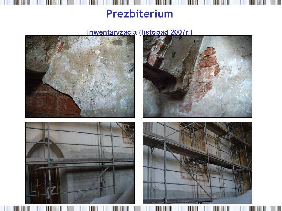 Prezbiterium Inwentaryzacja (listopad 2007r.)