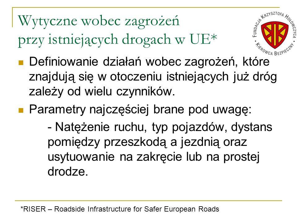 Wytyczne wobec zagrożeń przy istniejących drogach w UE* Definiowanie działań wobec zagrożeń, które znajdują się w otoczeniu istniejących już dróg zale