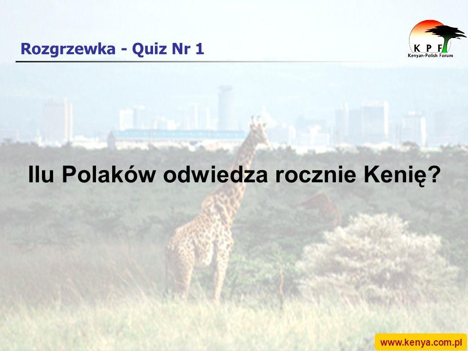 Rozgrzewka - Quiz Nr 1 Ilu Polaków odwiedza rocznie Kenię?