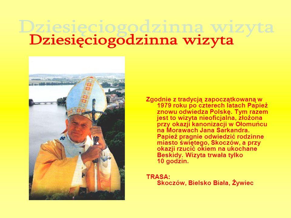 Zgodnie z tradycją zapoczątkowaną w 1979 roku po czterech latach Papież znowu odwiedza Polskę. Tym razem jest to wizyta nieoficjalna, złożona przy oka