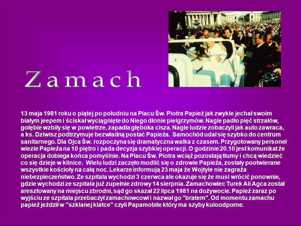 13 maja 1981 roku o piątej po południu na Placu Św. Piotra Papież jak zwykle jechał swoim białym jeepem i ściskał wyciągnięte do Niego dłonie pielgrzy