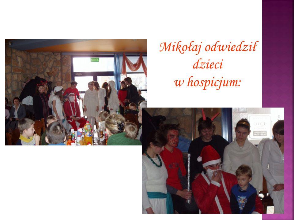 Mikołaj odwiedził dzieci w hospicjum: